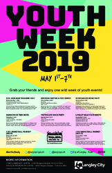 Langley Youth Week Events Poster