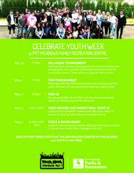 Pitt Meadows Youth Week Events 2019